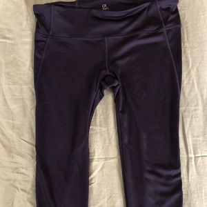 Purple & Pink Athletic Crop Leggings | GapFit